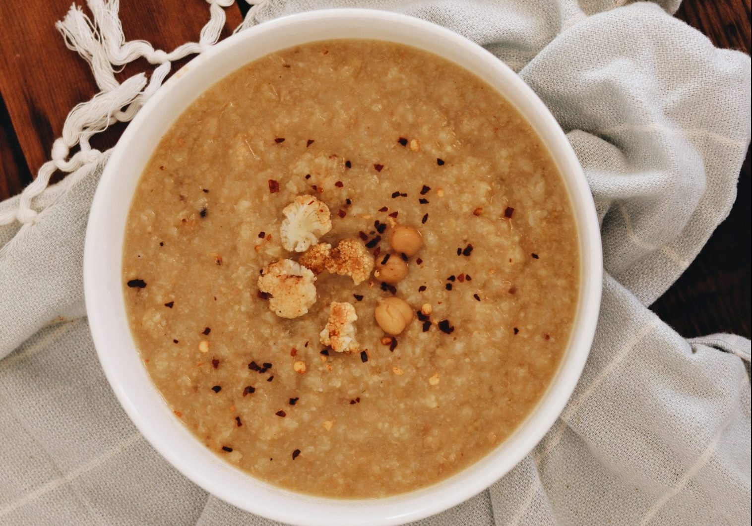Chickpea and cauliflower soup